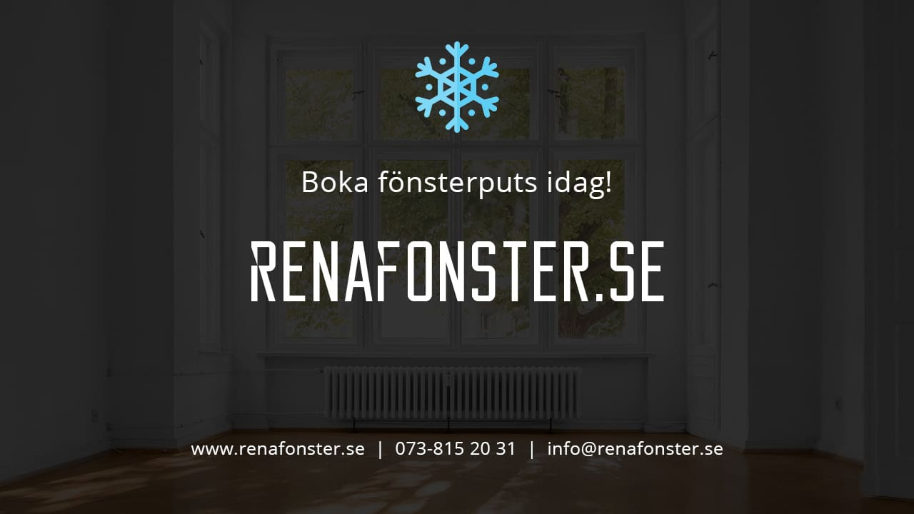 Fönsterputs Köping Vinter